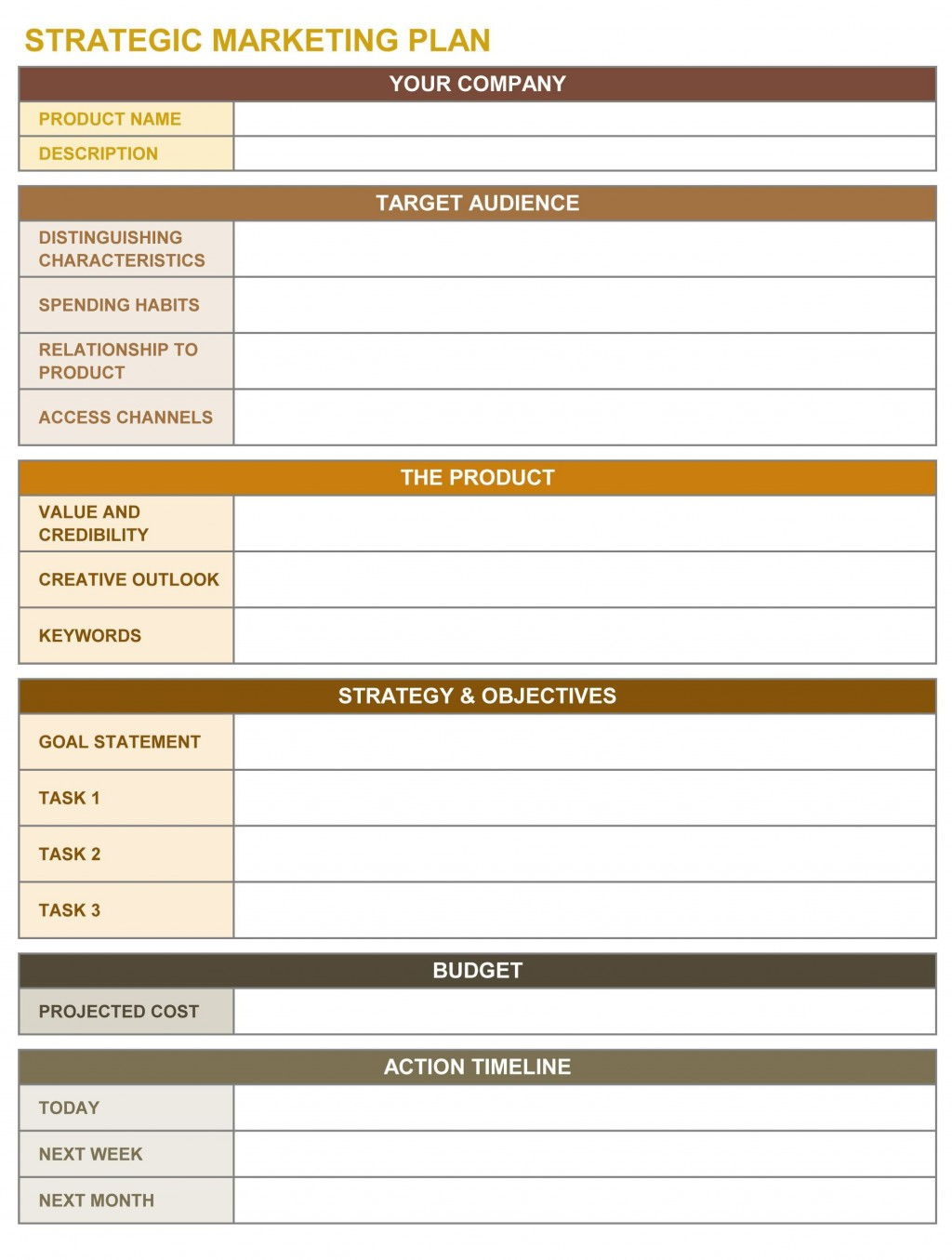 000 Dreaded Strategic Plan Template Excel Highest Clarity  Action CommunicationLarge