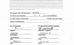 000 Dreaded Subcontractor Contract Template Free Design  Uk
