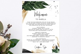 000 Dreaded Wedding Hotel Welcome Letter Template Sample