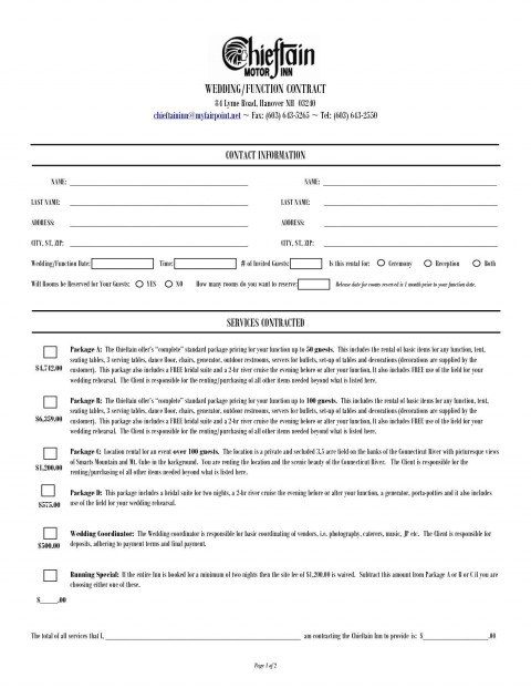 000 Dreaded Wedding Planner Contract Template Idea  Uk Australia480