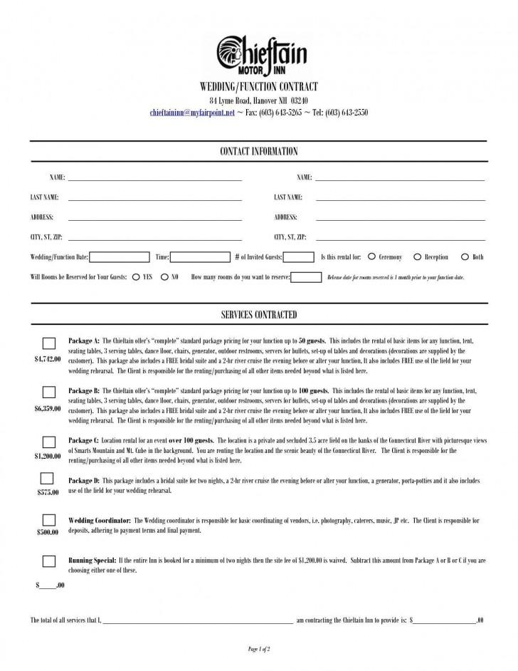 000 Dreaded Wedding Planner Contract Template Idea  Uk Australia728