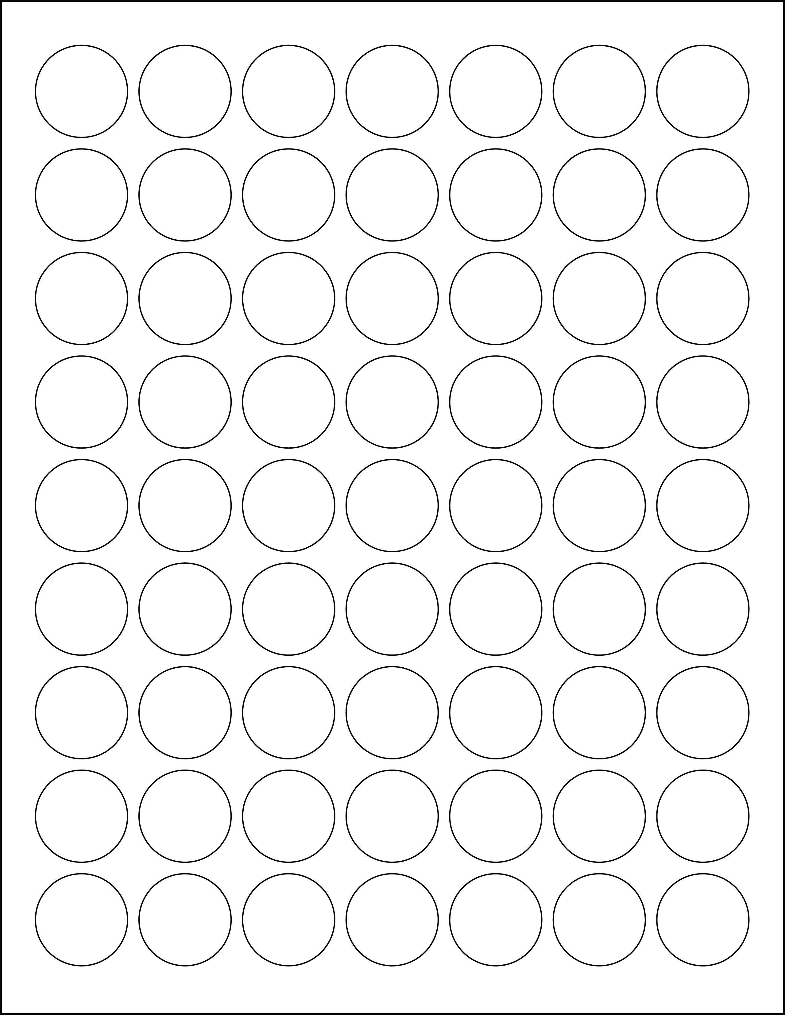 1 Inch Circle Template Addictionary
