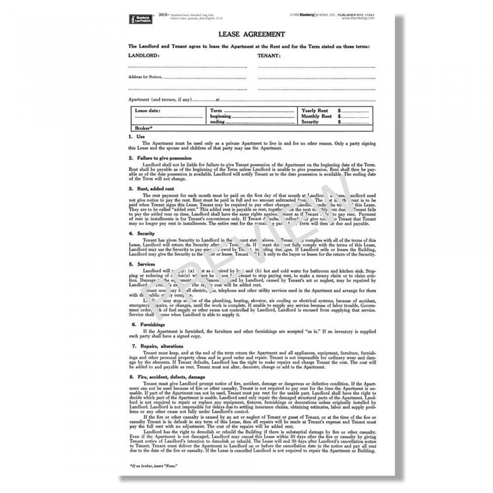 000 Excellent Apartment Rental Agreement Form Highest Quality  Forms Lease Ontario Format Simple1920