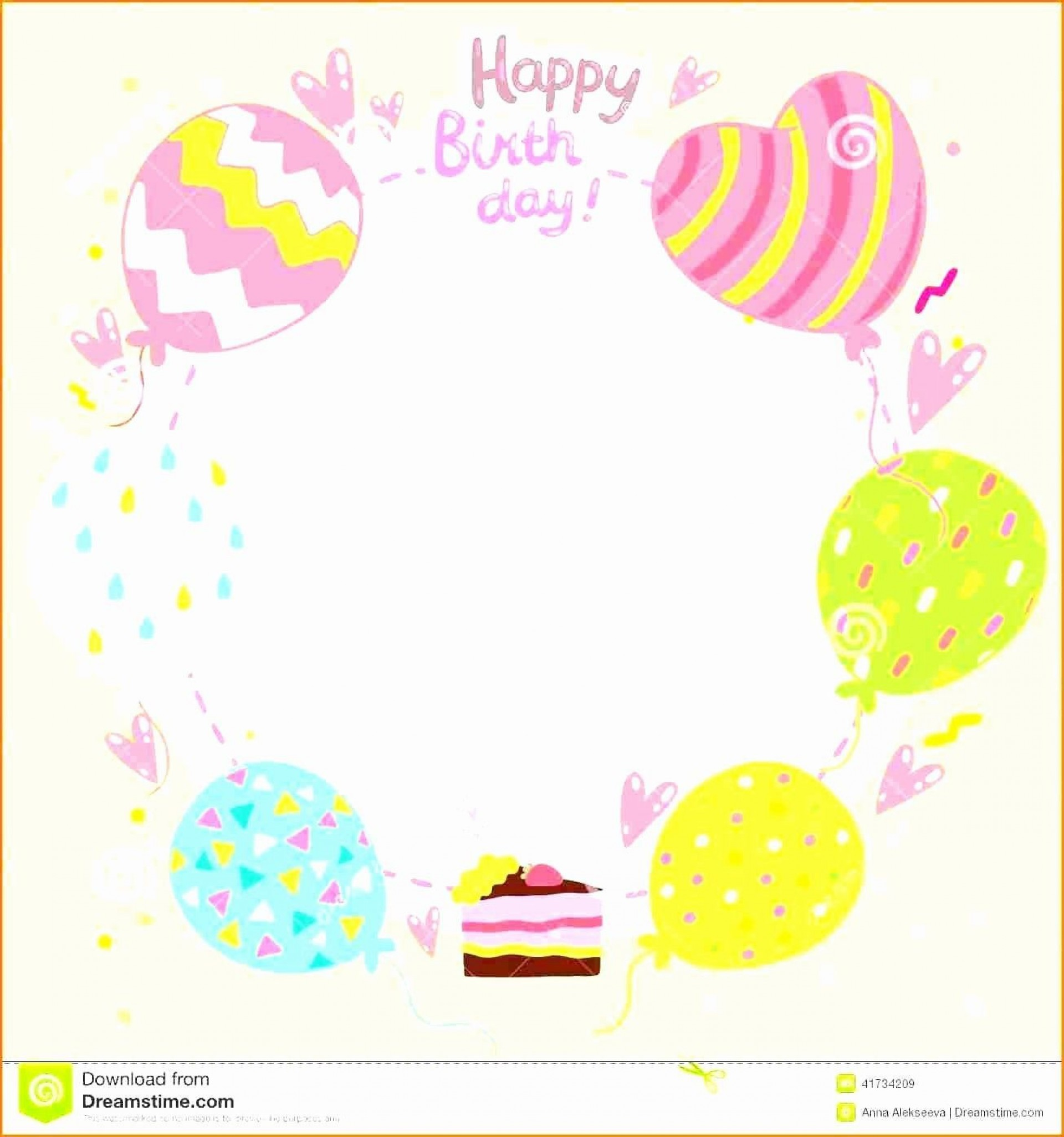 000 Excellent Birthday Card Template Free Inspiration  Invitation Photoshop Download Word1920