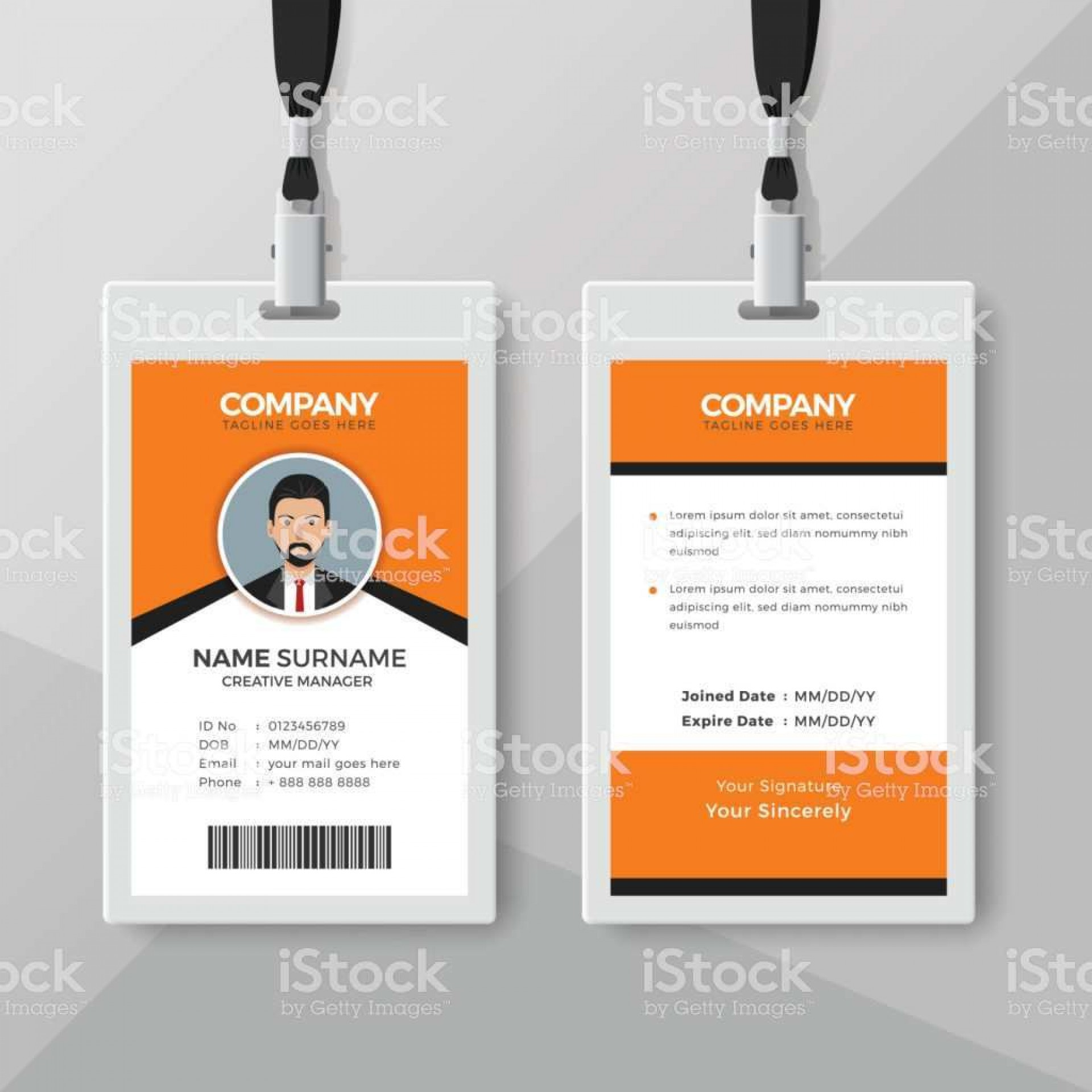 000 Excellent Blank Id Card Template Highest Clarity  Design Free Download Editable1920