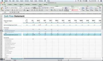 000 Excellent Cash Flow Template Excel Free Idea  Statement Download Format In360