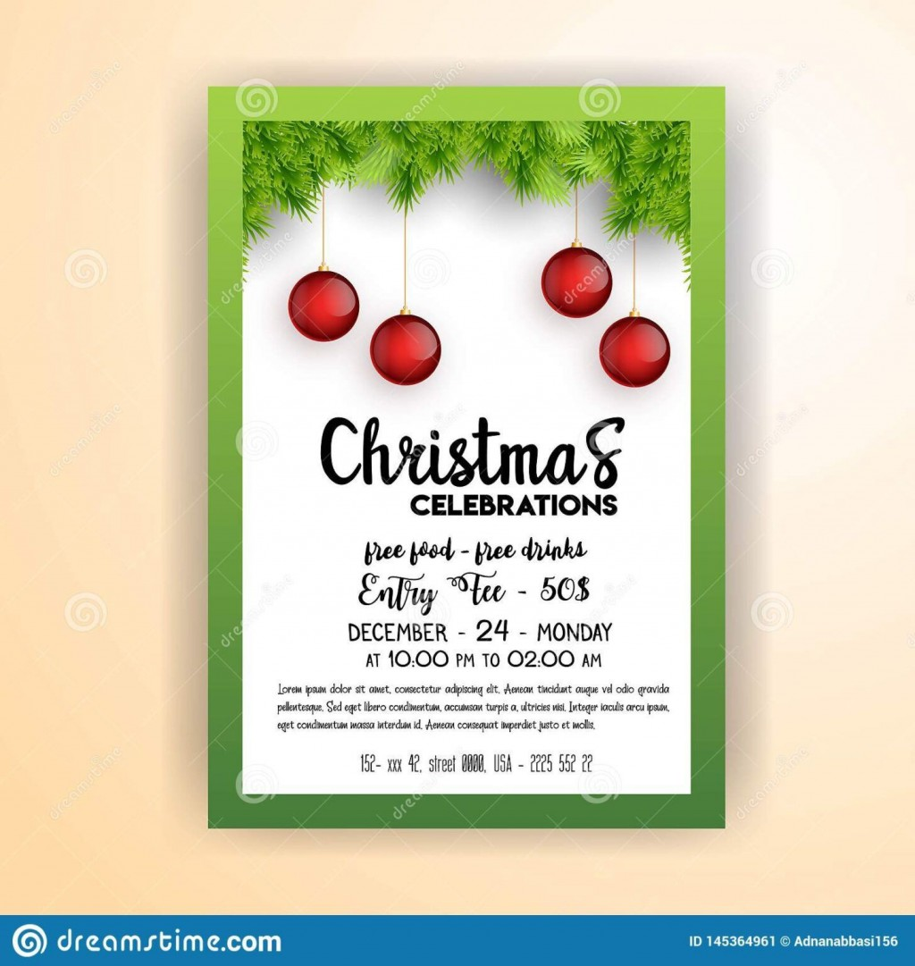 000 Excellent Christma Party Flyer Template Free High Def  Company Invitation Printable WordLarge