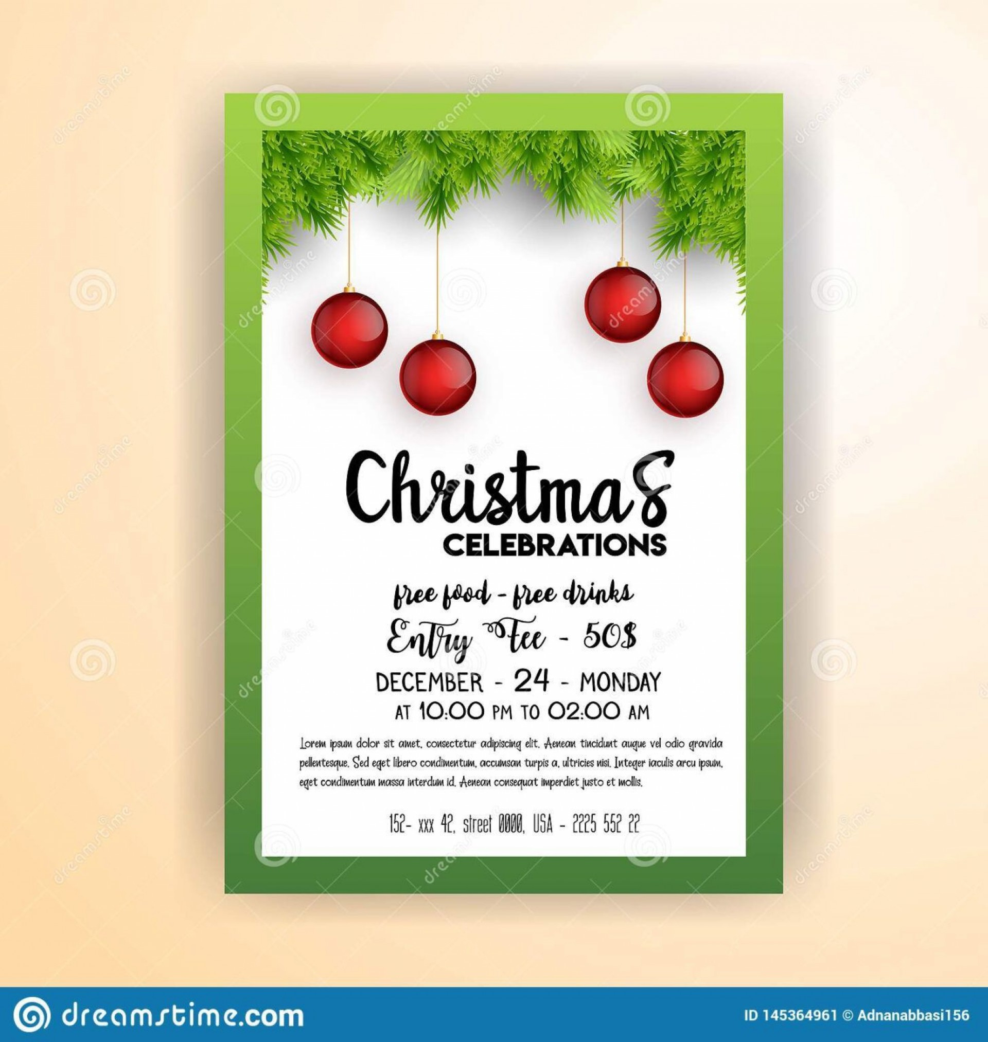 000 Excellent Christma Party Flyer Template Free High Def  Company Invitation Printable Word1920