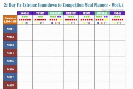 000 Excellent Excel Weekly Meal Planner Template Design  With Grocery List Downloadable