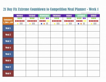 000 Excellent Excel Weekly Meal Planner Template Design  With Grocery List Downloadable360