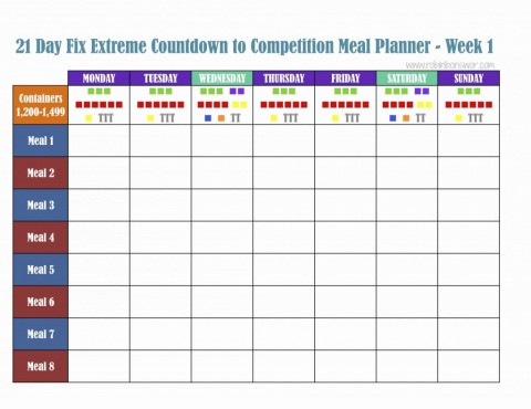 000 Excellent Excel Weekly Meal Planner Template Design  With Grocery List Downloadable480