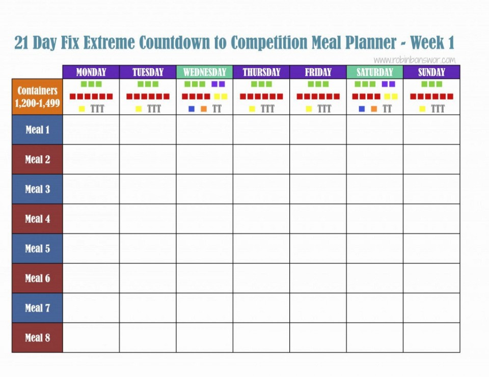 000 Excellent Excel Weekly Meal Planner Template Design  With Grocery List Downloadable960