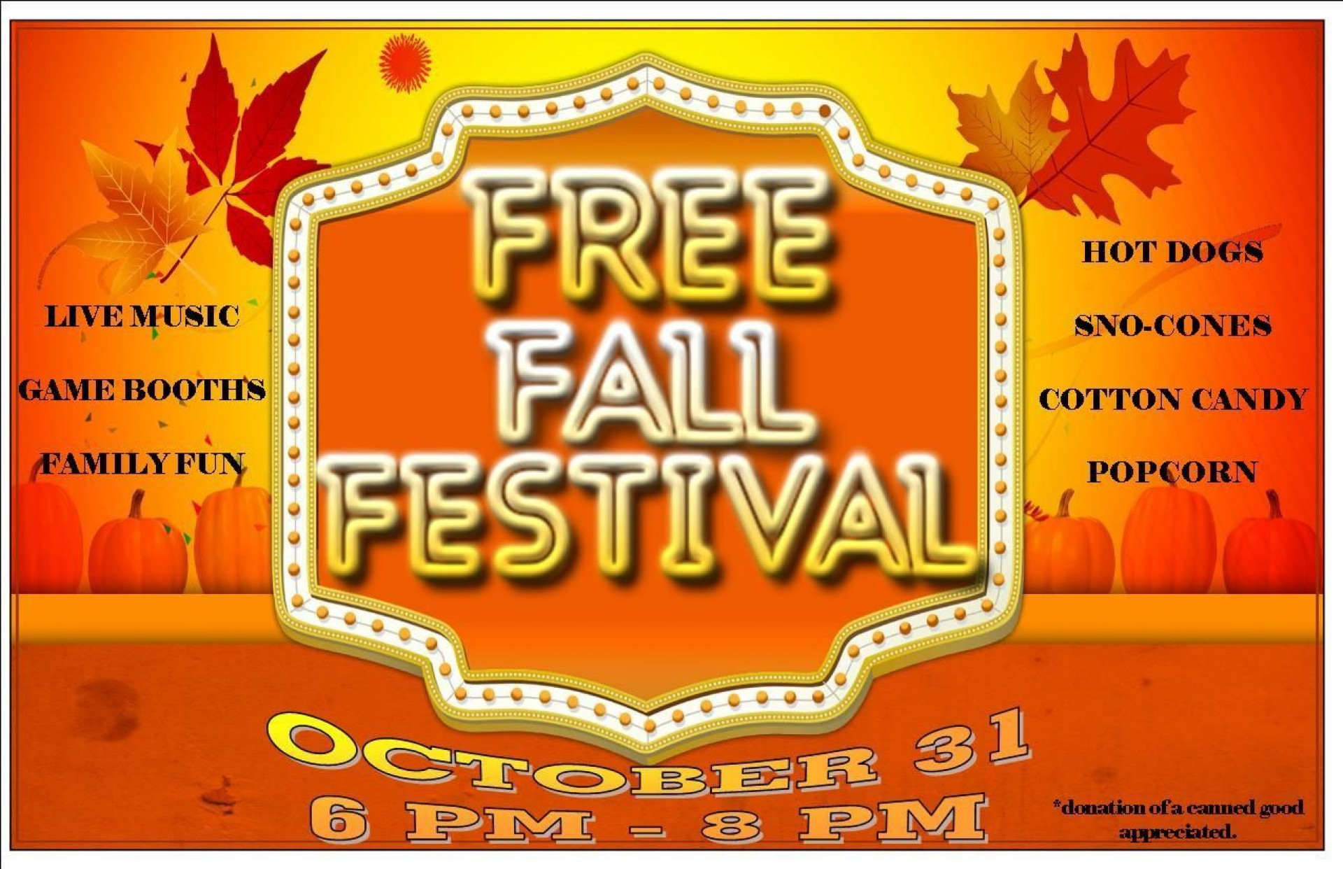 000 Excellent Fall Festival Flyer Template High Def  Free1920