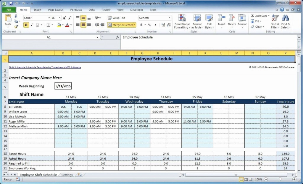 000 Excellent Free Excel Monthly Employee Schedule Template Image  DownloadLarge