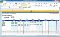 000 Excellent Free Excel Monthly Employee Schedule Template Image  Download