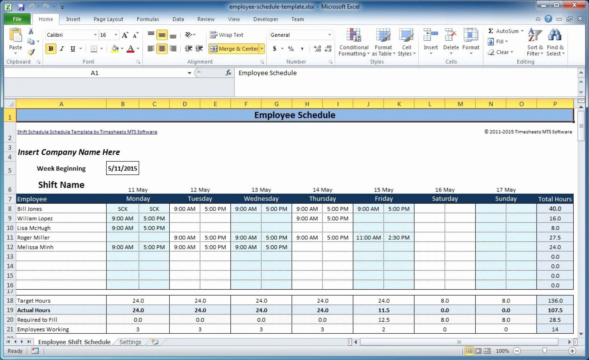 000 Excellent Free Excel Monthly Employee Schedule Template Image  DownloadFull