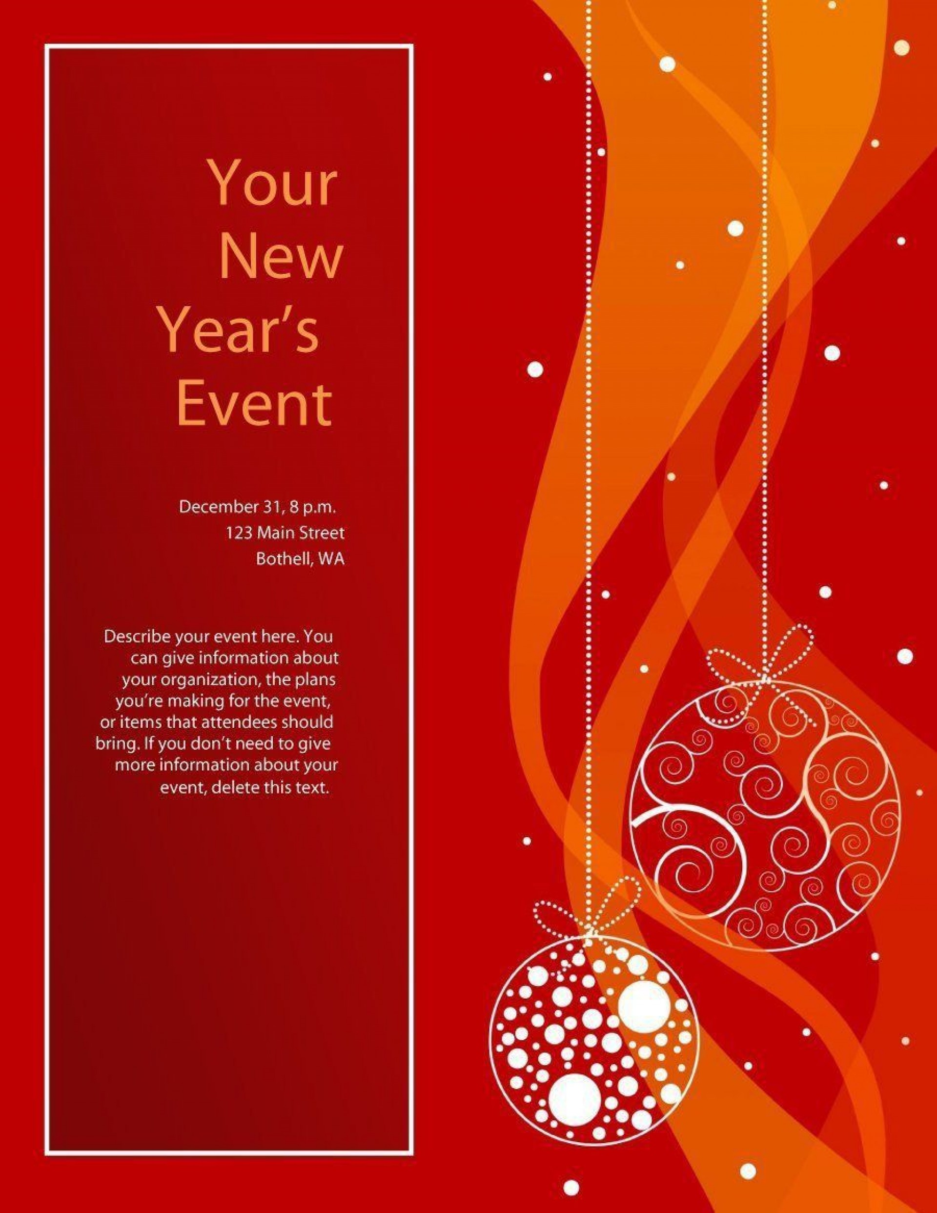 000 Excellent Free Holiday Flyer Template Highest Quality  Templates For Word Printable Christma1920