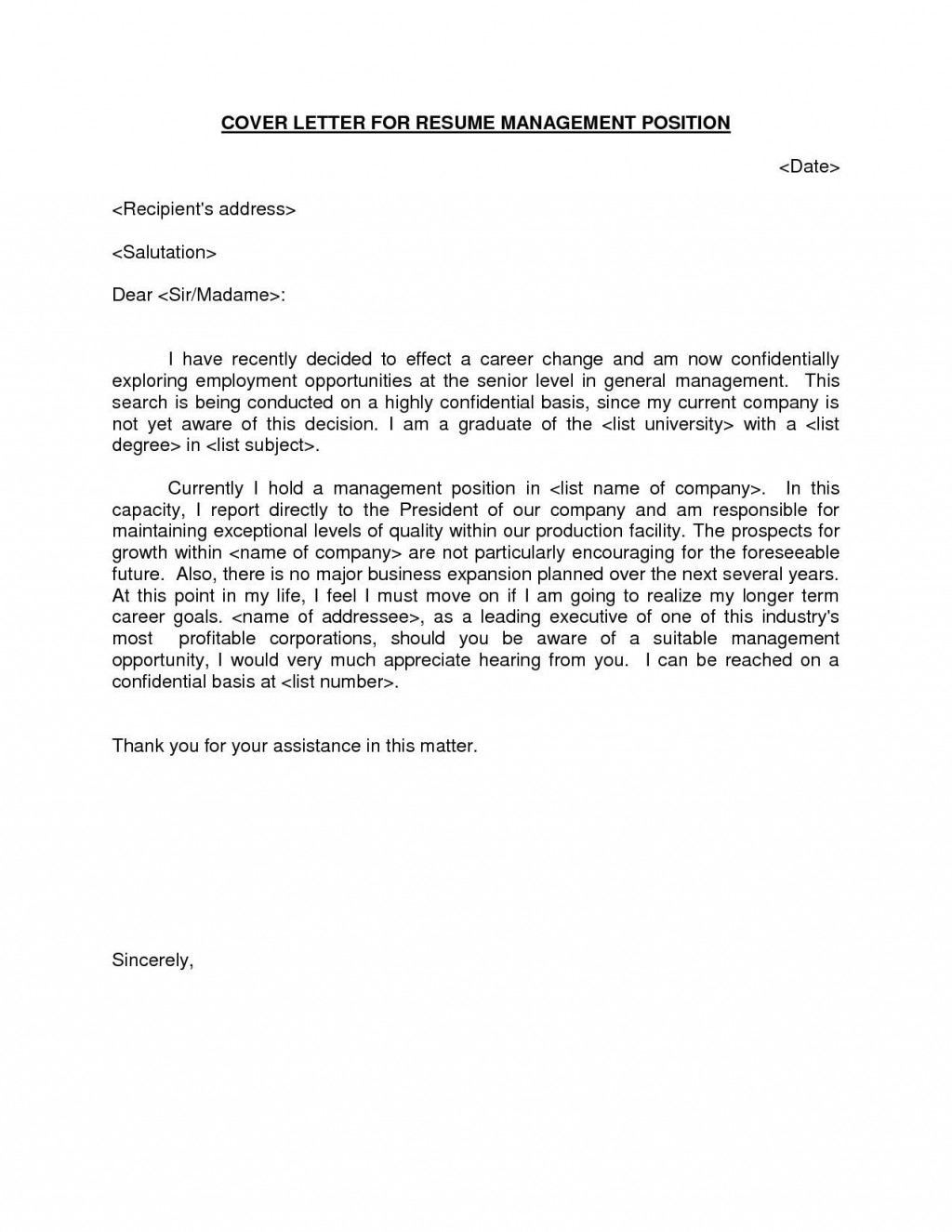 000 Excellent General Manager Cover Letter Template Highest Clarity  HotelLarge
