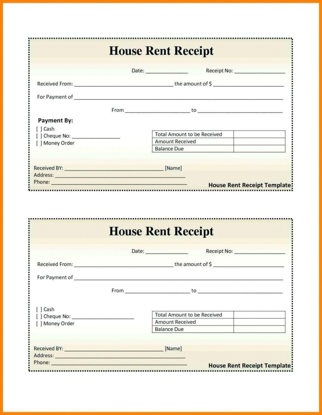 000 Excellent House Rent Receipt Sample Doc Photo  Format Download Bill Template IndiaLarge