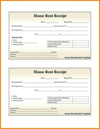 000 Excellent House Rent Receipt Sample Doc Photo  Format Download Bill Template India320