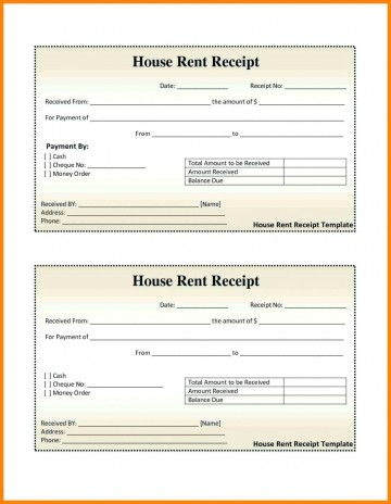 000 Excellent House Rent Receipt Sample Doc Photo  Format Download Bill Template India360