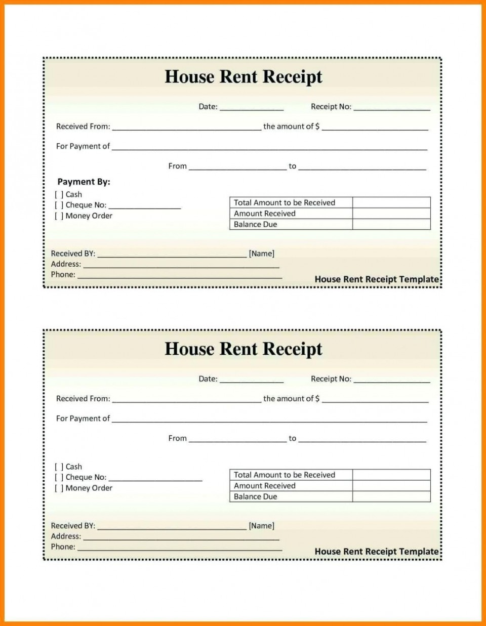 000 Excellent House Rent Receipt Sample Doc Photo  Format Download Bill Template India960