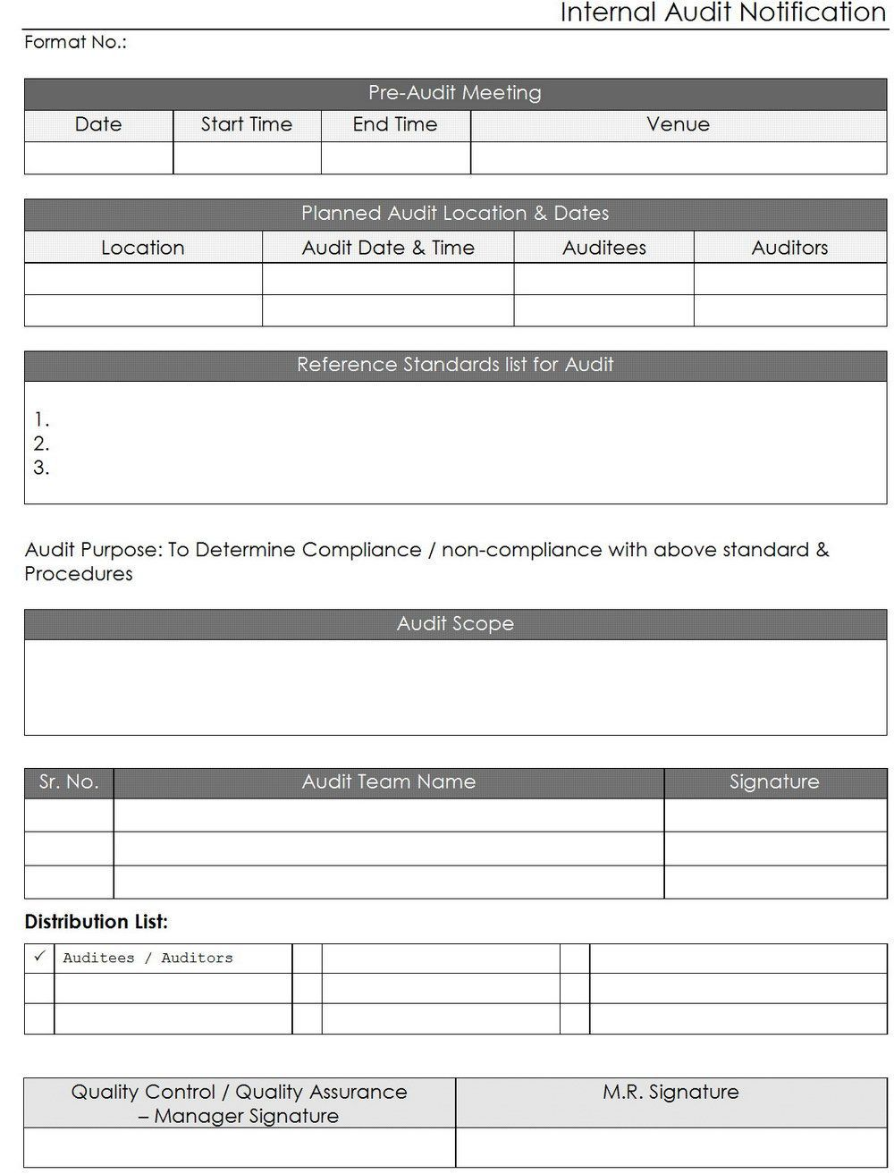 000 Excellent Internal Audit Report Template Inspiration  Powerpoint Format In Word Download FreeFull