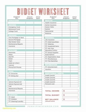 000 Excellent Line Item Budget Template Excel Image 360