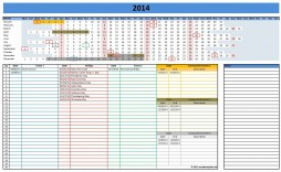 000 Excellent Microsoft Excel Calendar Template Idea  Office 2013 M Yearly 2019