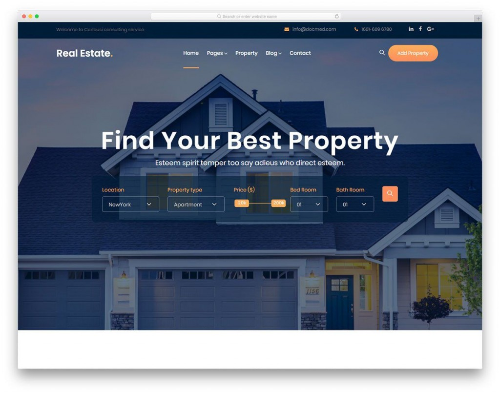 000 Excellent Real Estate Website Template Picture  Templates Bootstrap Free Html5 Best WordpresLarge