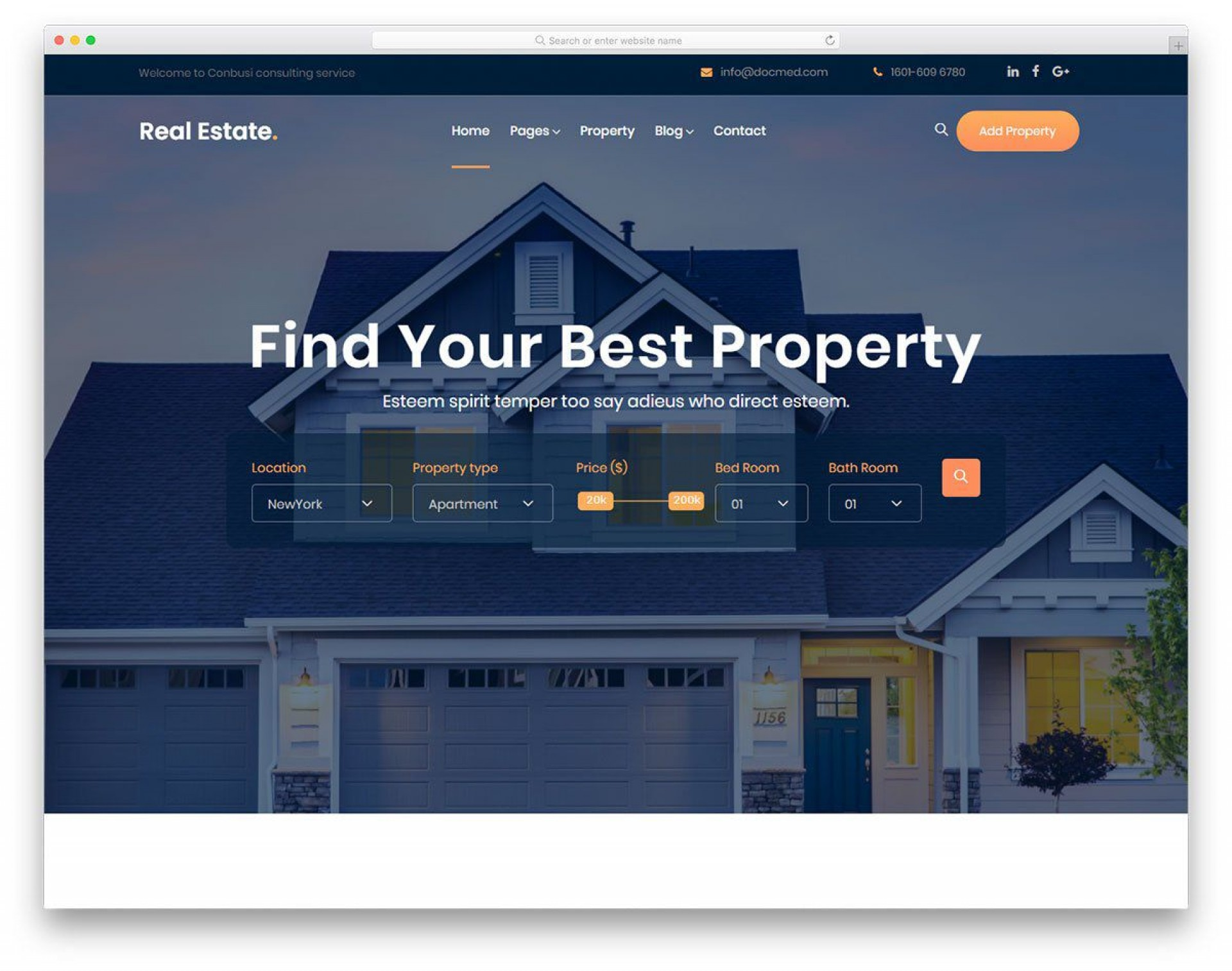 000 Excellent Real Estate Website Template Picture  Templates Bootstrap Free Html5 Best Wordpres1920