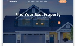000 Excellent Real Estate Website Template Picture  Templates Bootstrap Free Html5 Best Wordpres