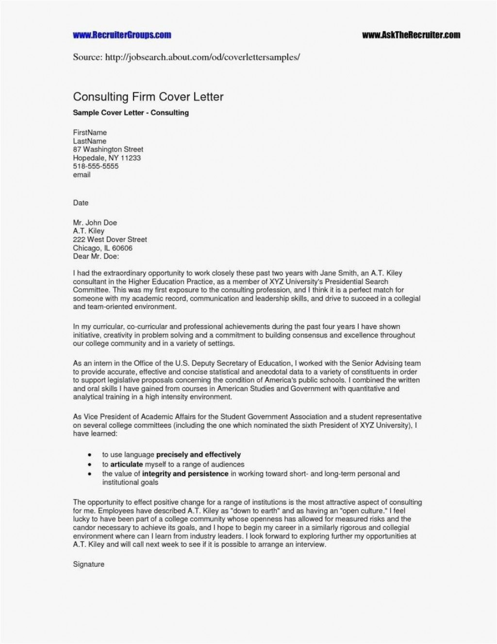 000 Excellent Resume Cover Letter Template Free High Resolution  Simple Online MicrosoftLarge
