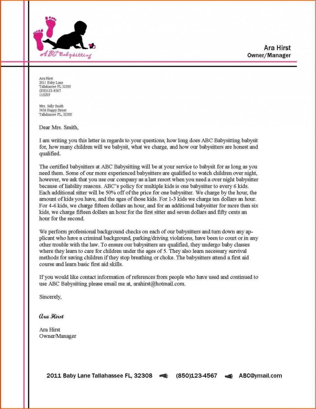 000 Excellent Sample Busines Letter Template High Definition  Of Intent Formal FreeLarge