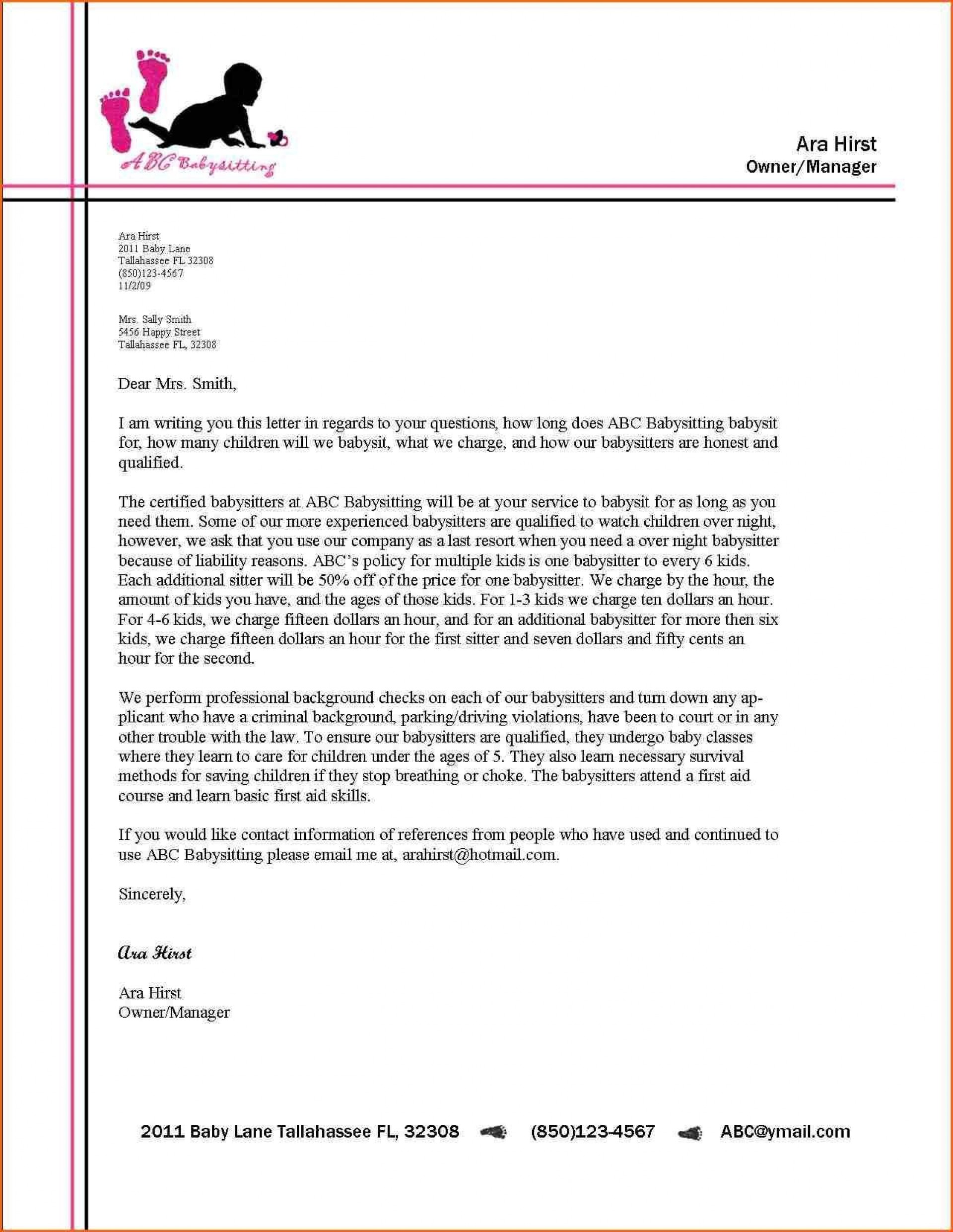 000 Excellent Sample Busines Letter Template High Definition  Of Intent Formal Free1920