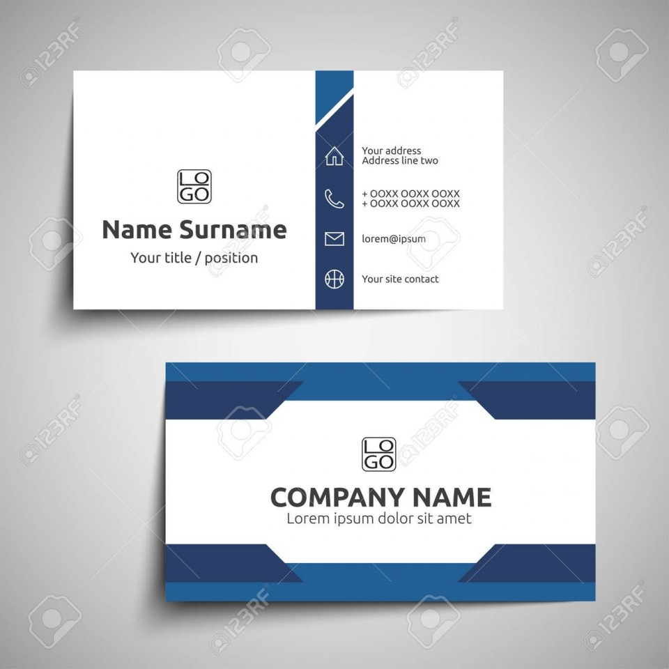 000 Excellent Simple Visiting Card Design Photo  Calling Busines Template Free In Photoshop960
