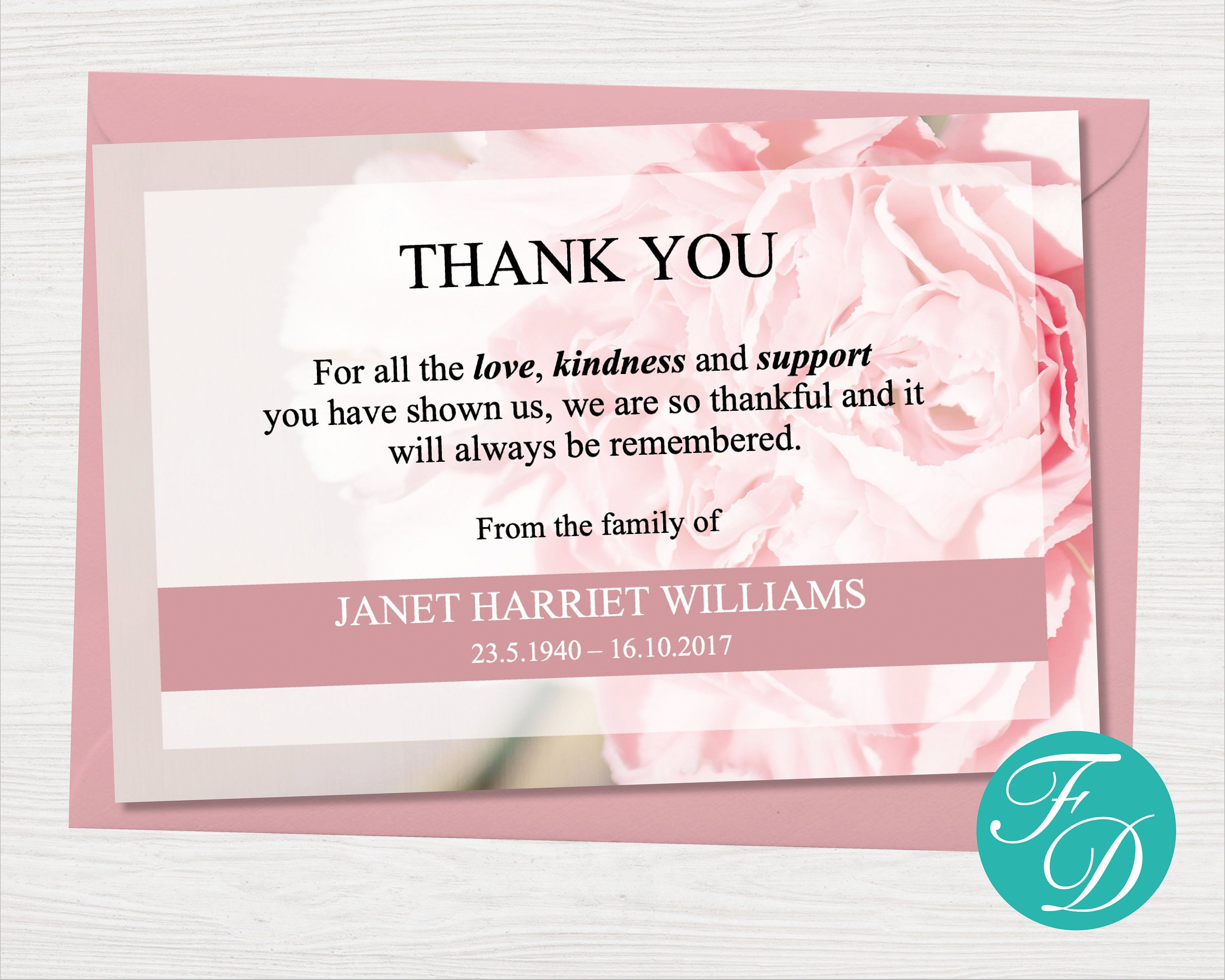 000 Excellent Thank You Note Template Microsoft Word Concept  Card Free Funeral LetterFull