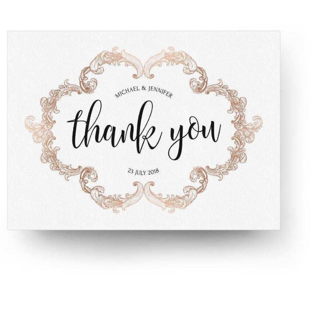 000 Excellent Wedding Thank You Card Template Psd Inspiration  FreeLarge