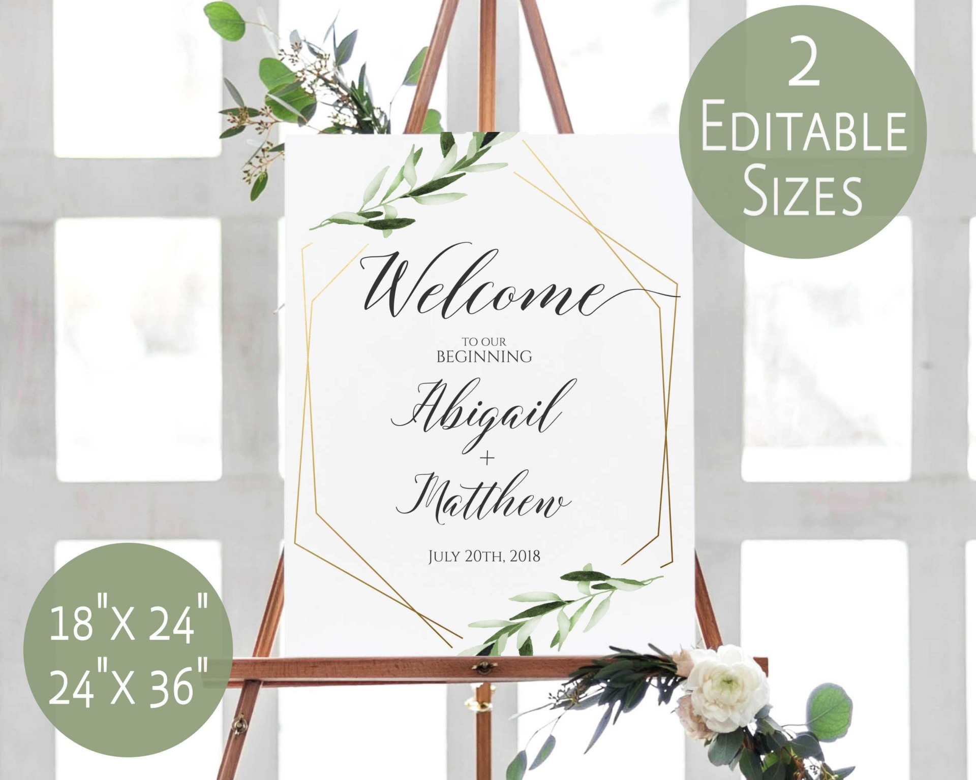 000 Excellent Wedding Welcome Sign Printable Template High Definition  Free1920