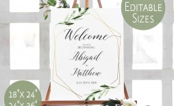 000 Excellent Wedding Welcome Sign Printable Template High Definition  Free