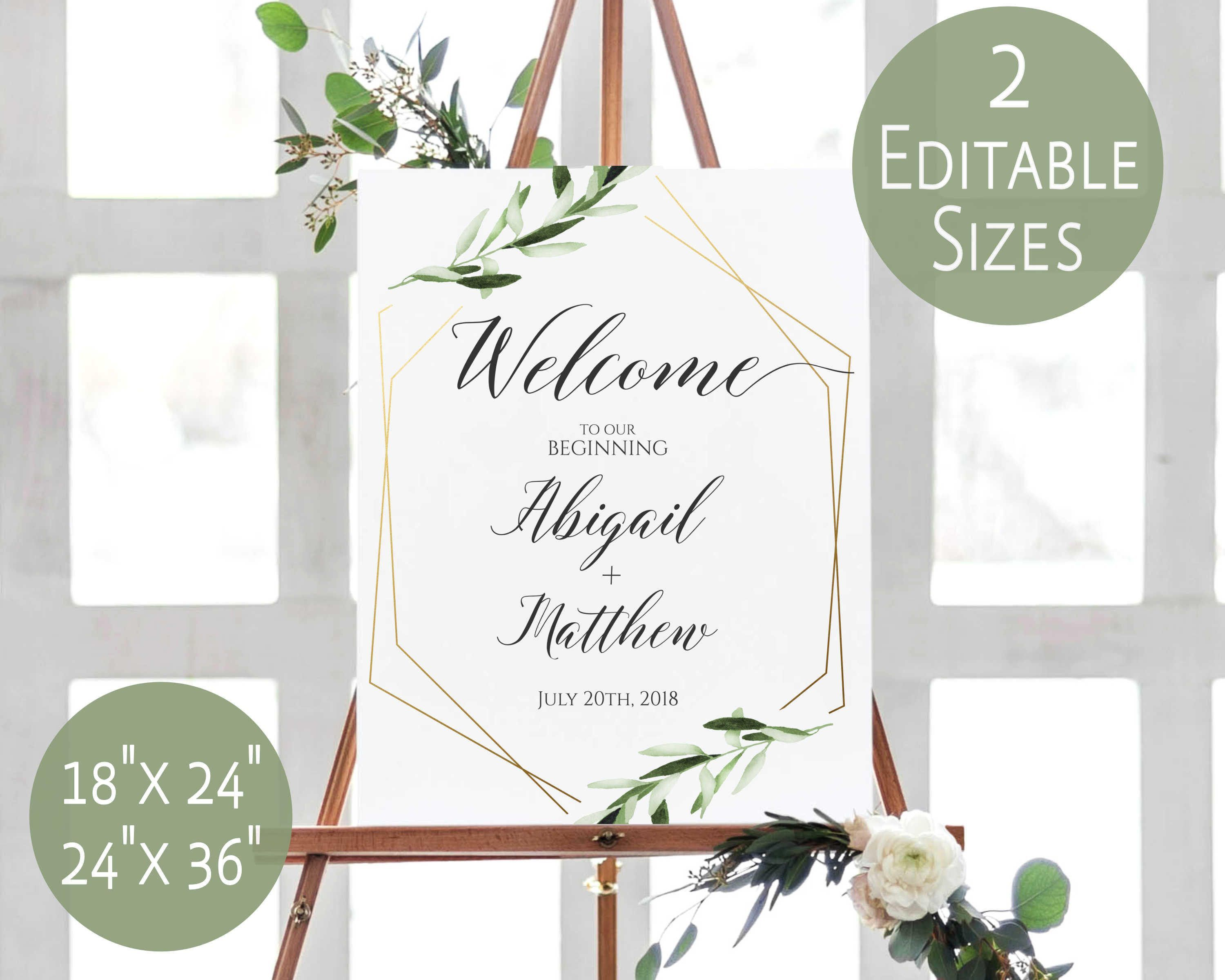 000 Excellent Wedding Welcome Sign Printable Template High Definition  FreeFull