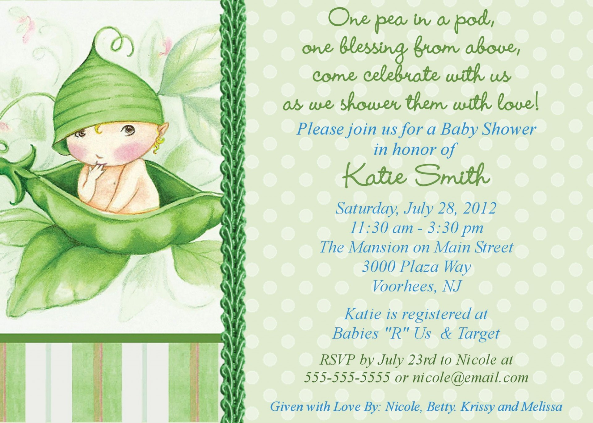 000 Exceptional Baby Shower Invitation Wording Example High Def  Examples Invite Coed Idea For Boy1920