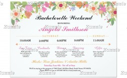 000 Exceptional Bachelorette Party Itinerary Template Free High Definition  Download