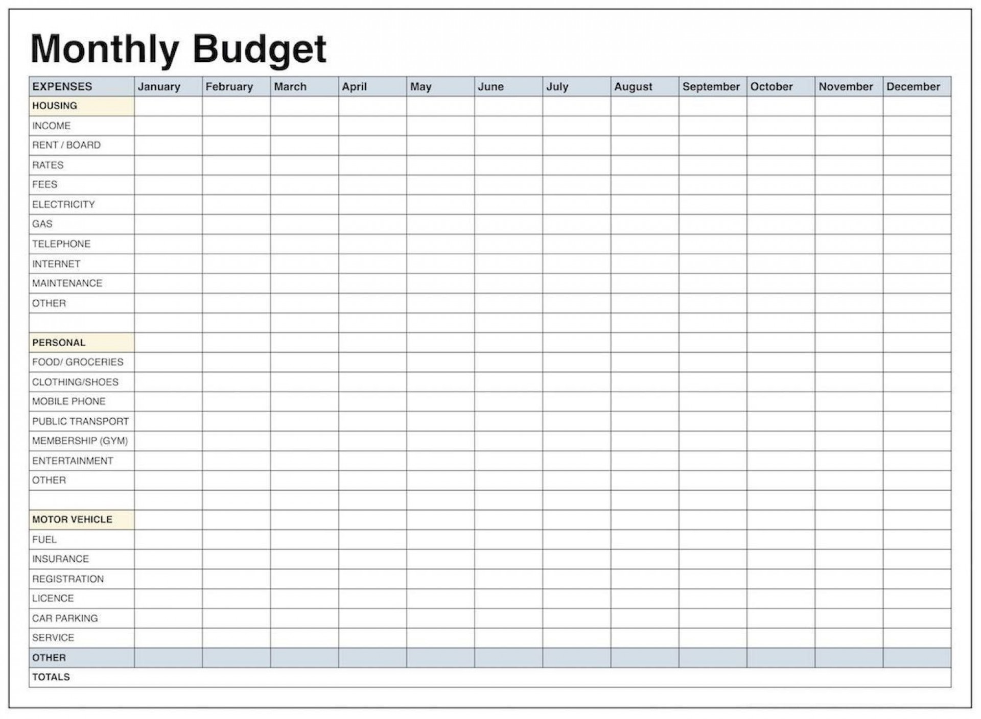 000 Exceptional Excel Monthly Bill Template Concept  Expense Budget With Due Date Planner Uk1920
