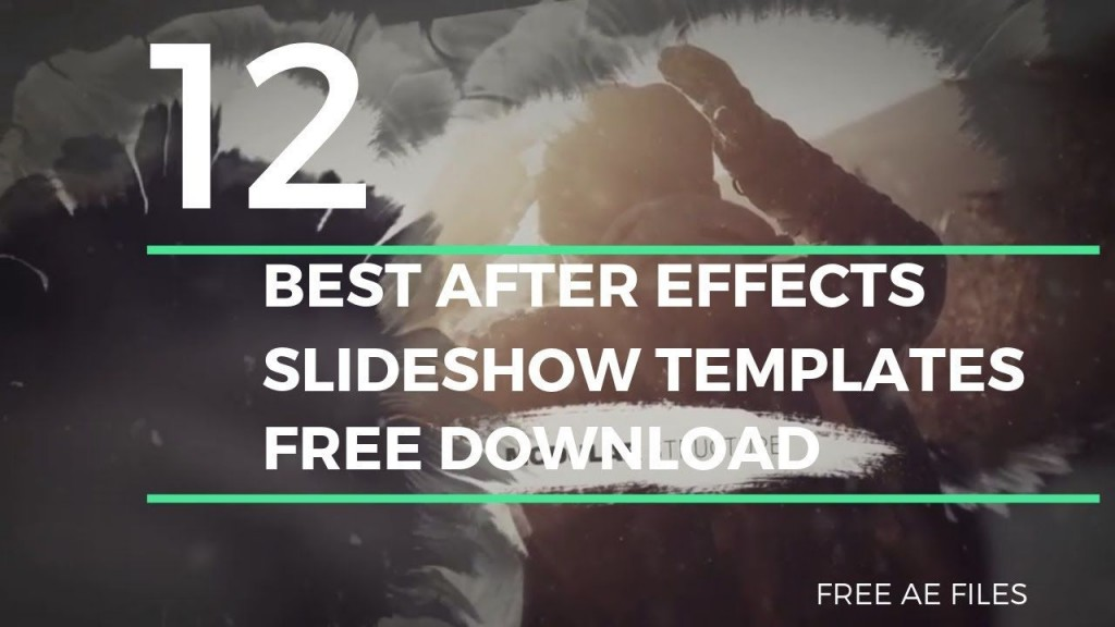 000 Exceptional Free Adobe After Effect Template Slideshow Example  Photo Download WeddingLarge