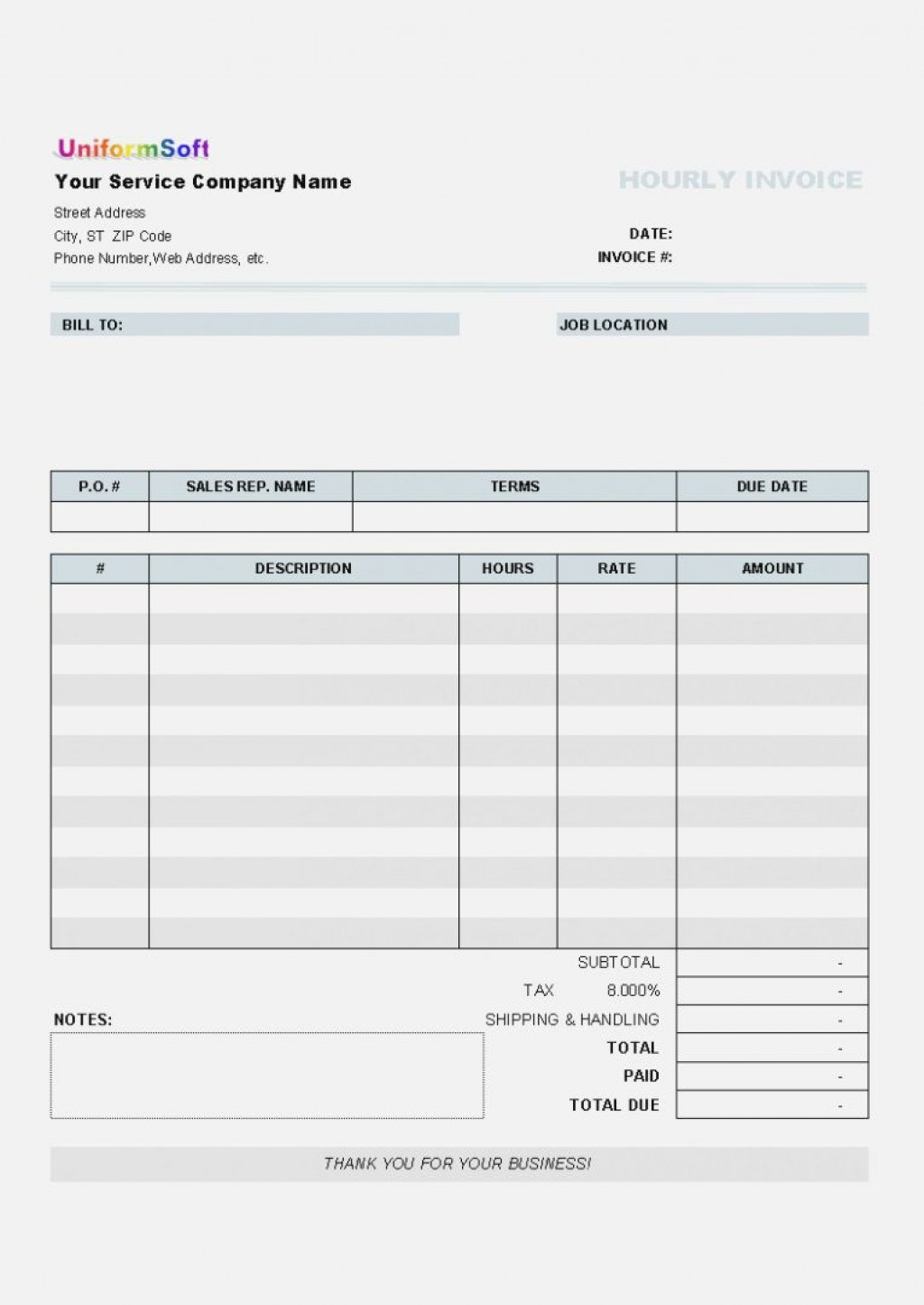 000 Exceptional Free Blank Invoice Template Excel Idea  Download DownloadableLarge