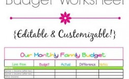 000 Exceptional Free Monthly Budget Worksheet Printable High Def  Template Family Blank