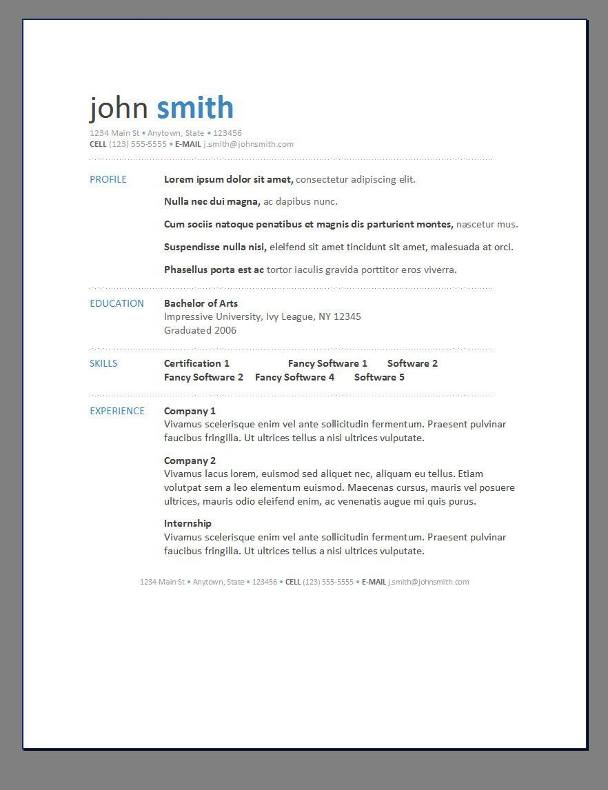 000 Exceptional Free Printable Resume Template Word Photo  MicrosoftFull