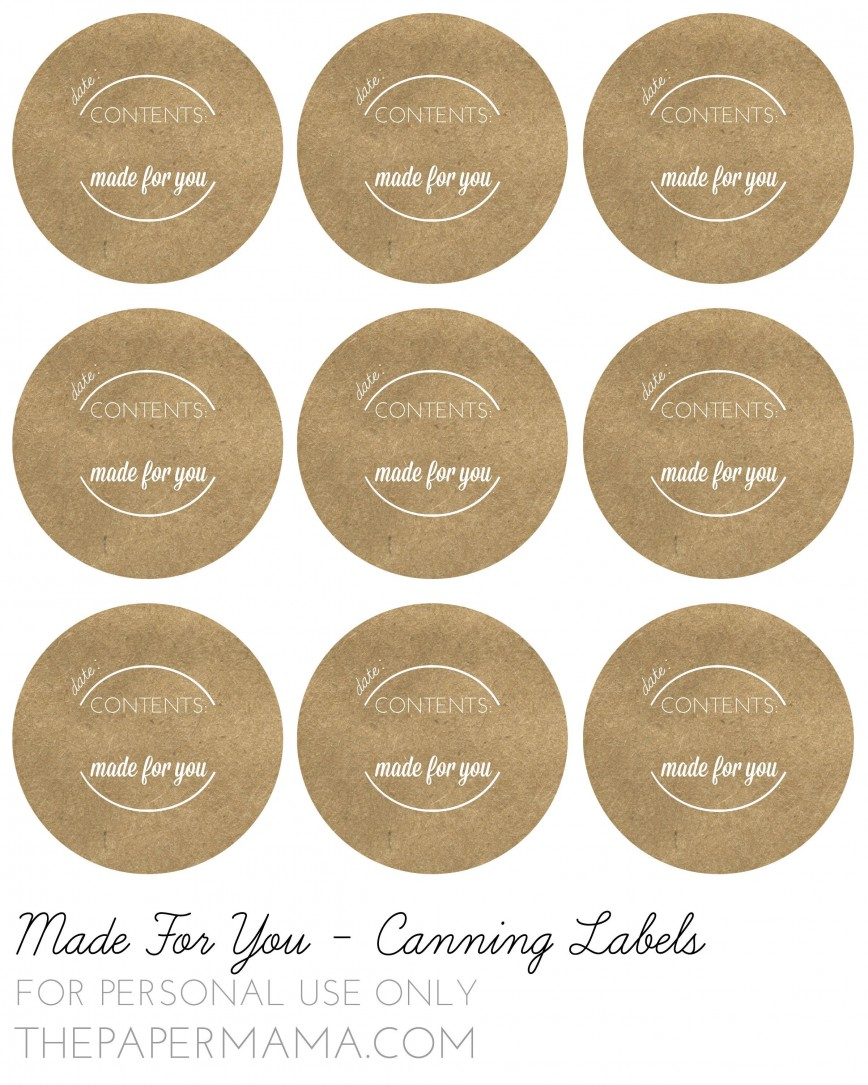 000 Exceptional Mason Jar Label Template Example  Lid Free Printable