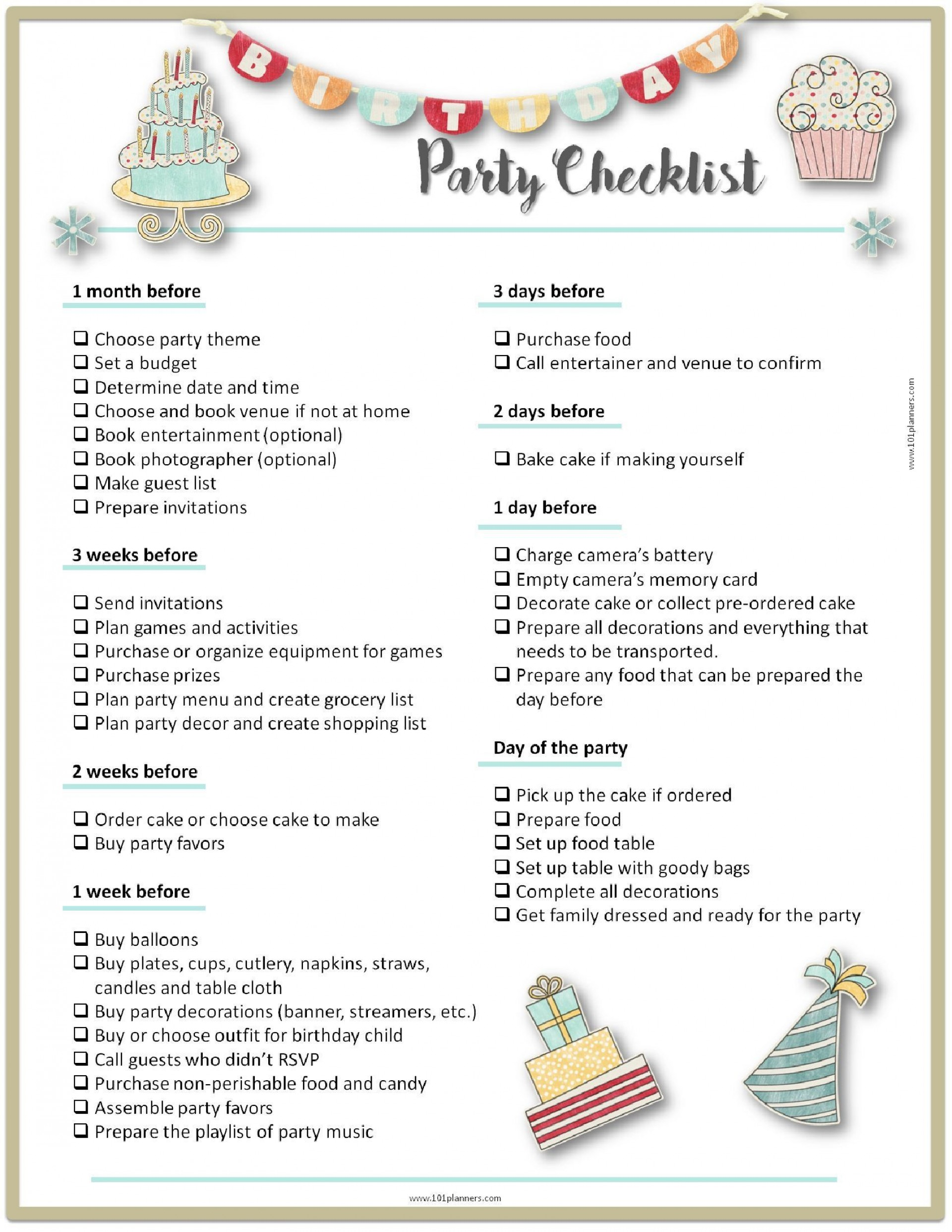 000 Exceptional Party Plan Checklist Template Example  Planning Free Graduation Birthday1920